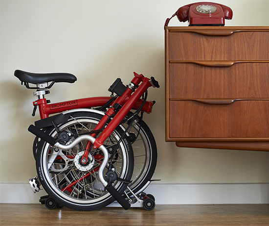 folding bike fits in your home