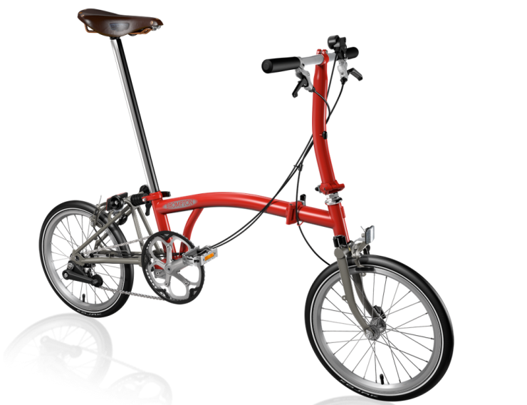 A superlight red Brompton