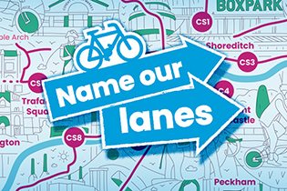 Introducing 'Name Our Lanes', a competition in partnership with Possible and Covent Gardens to name London's cycleways, encouraging Londoners to feel more connected to cycling in their city.
